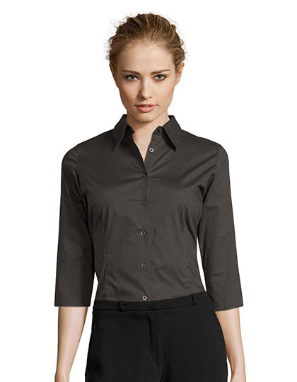 Ladies` Stretch-3/4-Sleeve Blouse Effect